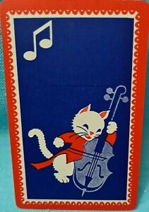 Cute Cat/ Kitten swap cards - 1970s Vintage. Playing Back. Exc cond