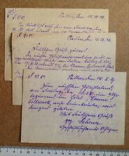 3 x Einladung Deutschvölkischer Offizierbund Stettin 1926/27 (NaHül39) Frontbann