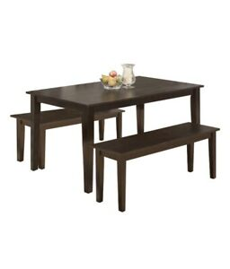 Dining Table Set Kitchen Table & Bench For 4 Dining Room Modern Home Furniture