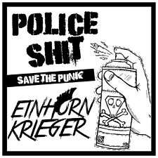 POLICE SHIT / EINHORN KRIEGER - SAVE THE PUNK LP 2019 limited farbig Oi Punkrock
