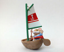 Hallmark 1990 Mouseboat by Ed Steale Christmas Ornament In Box - Very Good