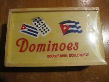 NEW DOMINO SET DOUBLE NINE/DOBLE NUEVE w CUBAN FLAG DESIGN