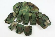 M81 Woodland USGI MOLLE II 9X Pouch Lot Frag/Mag/Sustainment/Canteen/40mm
