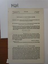 Government Report 1896 University of the United States #1424