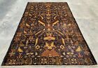 Authentic Hand Knotted Afghan Balouch Pictorial Wool Area Rug 6 x 4 Ft