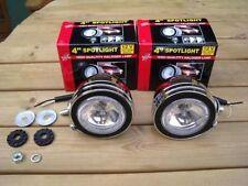2 White Chrome Angel Eye Spotlights Car Bike Motorcycle Halogen Bulb Spot Light