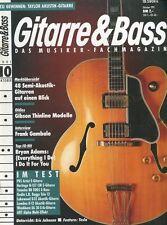 Gitarre und Bass # Oktober 1991 48 Semi-Akustik Gitarren, Gibson Thinline...