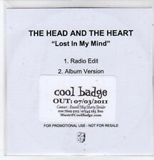 (BQ278) The Head & The Heart, Lost In My Mind - 2011 DJ CD