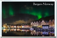 BERGEN - NORWAY - NORTHERN LIGHTS FRIDGE MAGNET