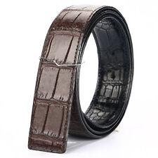 "Genuine Crocodile Leather Belts Double-sided Men's Belt Black Brown 110CM(44"")"
