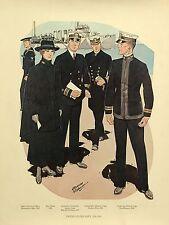Vintage US Navy Uniform 1918-1919 Print