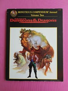 MONSTROUS COMPENDIUM ANNUAL VOLUME TWO - ADVANCED DUNGEONS & DRAGONS RPG TSR OSR