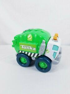 TONKA RECYCLING Hasbro BIG DUMP TRUCK Green W Sounds Lights Tested