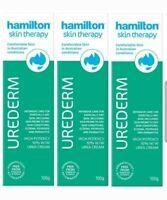 3 x Hamilton Urederm 10% Cream 100g for Dry Eczema Psoriasis Dermatitis Skin