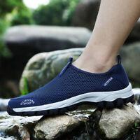 Men's Mesh Aqua Water Shoes Outdoor Quick Dry Slip on Sneakers Beach Pool Surf