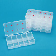 500 PCS False Nail Art Tips Compartment Storage Box Case With Number