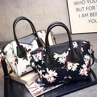 Flower Print Women Handbag Shoulder Bag Messenger Hobo Bag Satchel Purse Tote
