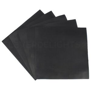 """10 Pk - Solid Rubber Sheets - 12"""" x 12"""" x .06"""" - Buna Rubber Square Mat Duro 65A"""