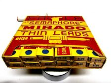 "Vintage  -12 PACK-   EAGLE  ""Semaphore"" Mirado Thin Leads  BLUE"