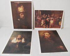 Vintage Master of the Arts Rembrandt Prints Set of 4