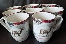 222 fifth Mount Holly Green Mug Set Of 8 New
