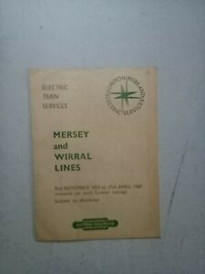MERSEY AND WIRRAL LINE TIMETABLE  2/11/1959 TO  17/4/ 1960