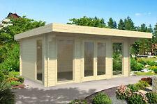 44 mm Gartenhaus ISO 500x380 cm Blockhaus Holzhaus Gerätehaus Schuppen Hütte