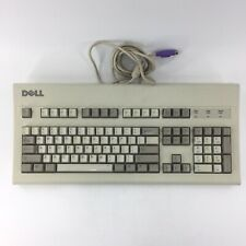 Vtg Dell PS/2 Beige AT101W Mechanical Clicky Keyboard GYUM90SK Black ALPS D1A