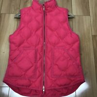 J. Crew Women's Quilted Vest Pink Small