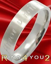 Edelstahl Ring Partnerring incl. Aussengravur 100011