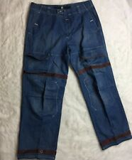 Marithe Francois Girbaud Brown Mens 42 Pants Shuttle Tape Hip Hop Jeans O9