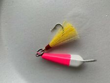 5 Pack Pompano Jigs w/ Teaser 1/2oz  Pre-ringed Color Choice  Mackerel Bluefish