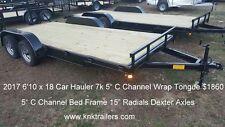 2017 16 18 20 22 ft Car Hauler 7k Free 15 Radial Spare Limited Time
