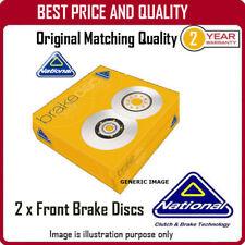 NBD1108 2 X Discos De Freno Delantero para Opel Tigra TwinTop