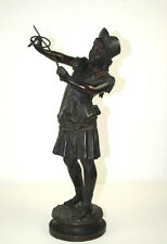 YOUNG. 'ATTRAPPE!'. BRONZE SCULPTURE. BROUSSE FAURE (1876-1900)