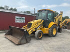 2002 New Holland 555E 2wd Tractor Loader Backhoe w/ Cab 4-1 Bucket Extend-A-Hoe!