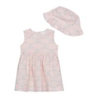 Vintage Tea Rose Pink NEW RRP £35.00 Baby  Boden  Shimmer Stripe Dress U36