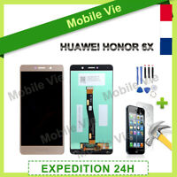 VITRE TACTILE + ECRAN LCD POUR HUAWEI HONOR 6X OR + OUTILS + FILM