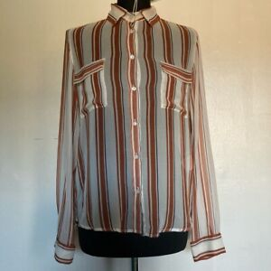 Vintage/Archive MARELLA Sport Striped Silk Shirt Size 12 New with Tags