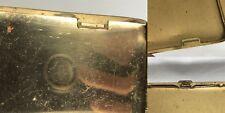 Antique Brass Art Deco Cigarette Case With Classic Engine Turned Moderne Design