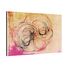 120x80cm image Paul Sinus series Enigma on canvas timeless beige brown pink