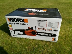 WORX WG305E 1100W Compact Chainsaw 25cm Brand New Unused Boxed
