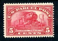 USAstamps Unused FVF US 1913 Parcel Post Mail Train Scott Q5 OG MNH Fresh