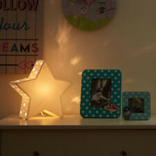 Ceramic White Star Night Light Kids Room Ambient Bedroom New Childrens Lighting