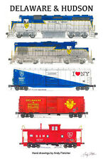 """Delaware & Hudson 11""""x17"""" Poster by Andy Fletcher signed"""