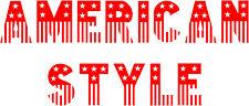 American Wording 2, Burger Van Stickers Catering Trailer, Diner / Takeaway Decal