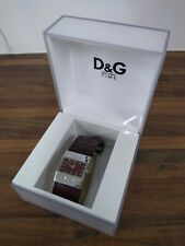 Dolce and Gabbana Red leather Square Watch Stainless Steel - DIS
