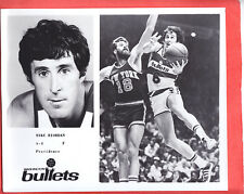 1975  BULLETS  MIKE RIORDAN  GLOSSY   8 X 10   TEAM ISSUED  PHOTO