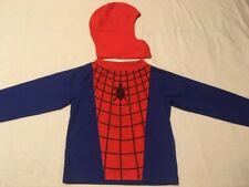VINTAGE SPIDER-MAN CHILDRENS COSTUME SHIRT/PLAY HOOD JC PENNY'S 1980's - RARE!!