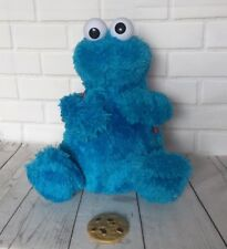 Cookie Monster Sesame Street Talking Eating With Backpack Soft Toy Teddy
